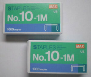 2 - 1000ct. Boxes 2000 QTY MAX Mini Staples No 10 SWINGLINE TOT 50 Fast Shipping