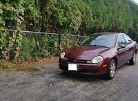 2001 Dodge Neon Sedan LOW KMS saftied and etested available