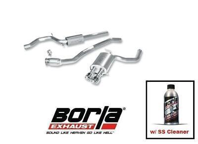 Borla Cat-back Rear Section Exhaust w/SS Cleaner for 09-16 Audi B8 A4 # 140315 Borla Rear Section Exhaust