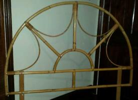 Cane double headboard