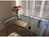 Large glass desk