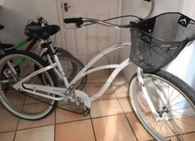 Beautiful white town bike for sale - barely used
