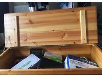 Solid pine blanket box