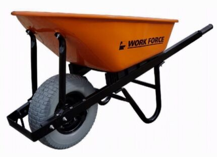 Hi-vis Orange extra heavy duty builders wheel barrow
