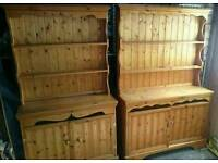 A pair of pine dressers in good condition deliver