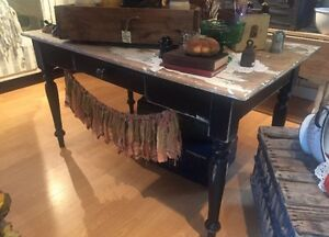 Antique Rustic Harvest Table