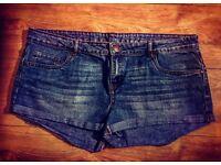 BRAND NEW Light Blue Denim Jean Shorts - Size 18