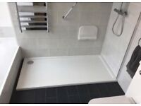 1700 x 800 stone resin shower tray - slight damage
