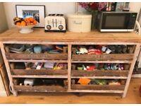 Kitchen Side Board, Crate Storage, Kitchen Work Top, Dresser