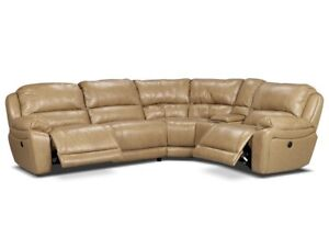 7 Piece Leather Sectional Couch