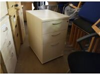 Job Lot 50x Desk High Pedestal Chest of Drawers Wooden Filing Cabinet