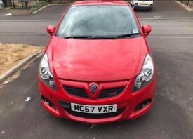 Red Vauxhall CORSA VXR. £3100. Great runner, good condition, beautiful little car, no problems.