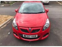 Red Vauxhall CORSA VXR. £3100. Great runner, good condition, beautiful little car, no problems.