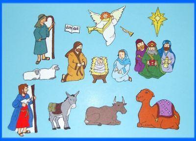 Nativity Birth of Jesus . Christmas Bible Felt / Flannel Board -