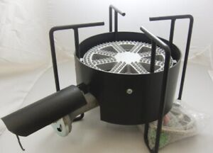 Outdoor burner, fry pot and cast iron skillet