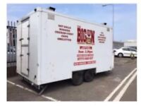 Catering trailer app 18ft twin hatch