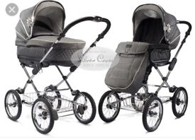 Sliver cross sleepover pram/pushchair