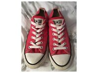 Red Converse Short Chuck Taylor Style Size 7