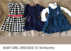 BABY GIRL 12-18 MONTHS DRESSES