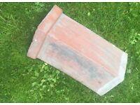 1930's Reclaimed Terracotta Clay Roof Ridge Tile Shingle Rare Repair