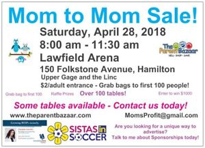 Mom to Mom sale - Lawfield area on April 28