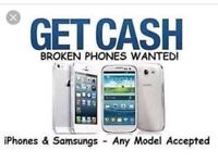 WANTED FAULTY/CRACKED SCREEN IPHONES AND GALAXY'S