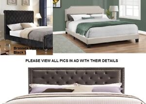 New Brand Name Upholstered Bed - Queen - King - double - Full