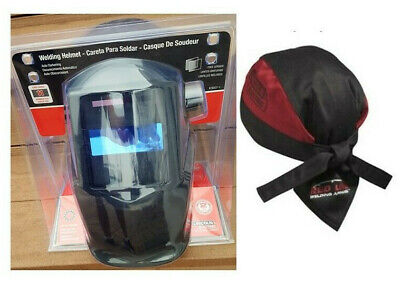 Bonus Lincoln Electric K3057-1 Fix Shade 11 Auto Darken Welding Helmet Doo Rag