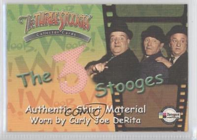 3 Stooges Costume (2005 Breygent The 3 Stooges Costume/Prop Cards #C4 Curly Joe DeRita (shirt))