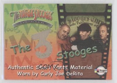 3 Stooges Costume (2005 Breygent The 3 Stooges Costume/Prop Cards #C6 Curly Joe DeRita Card)