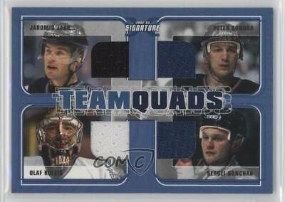 2002 ITG Be A Player Signature Series Team Quads Jaromir Jagr Peter Bondra -