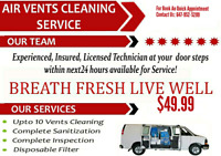 SUPER SUMMER OFFER ONLY $49.99 FOR DUCT CLEANING