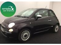 £129.04 PER MONTH FIAT 500 1.2 LOUNGE S/S 3 DOOR PETROL HATCHBACK