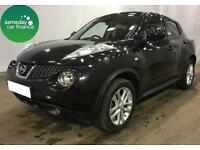 £217.28 PER MONTH BLACK 2012 NISSAN JUKE 1.5 DCI TEKNA 5 DOOR DIESEL MANUAL