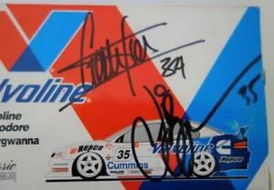Autograph Garth Tander & Jason Bargwanna V8 Racing