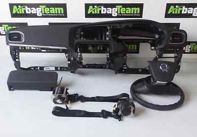 Volvo V40 Airbag Kit 2013   Onwards Driver Passenger Dashboard Seatbelts Knee
