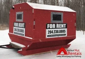 Lake Winnipeg Ice Fishing Shacks FOR RENT...