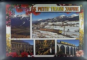 CPA France Le Petit Train Jaune Locomotive Train Zug Bahn Rail Railway k1137 - DABROWA, Polska - CPA France Le Petit Train Jaune Locomotive Train Zug Bahn Rail Railway k1137 - DABROWA, Polska