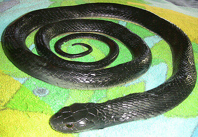5' Realistic Black Snake Replica - Rubber (Realistic Rubber Snake)