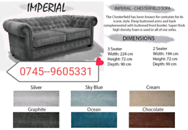 __Chesterfield imperial 3+2 Sofa Sale__