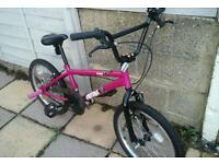As new bmx hardly been used suit 7ish to 70 ish very good condition