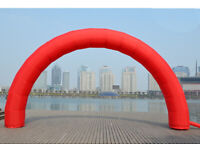 Orange Inflatable Arch 19.5FT Outdoor Advertising 4 Ropes Magic Tape 8 Sandbags