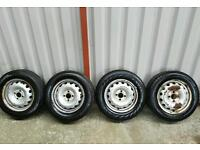 Set of 14inch with good tyres 4x100 £60