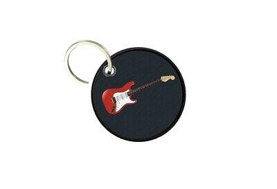 Porta Llaves Redondo Estampado Doble Cara Guitarra Eléctrica Música