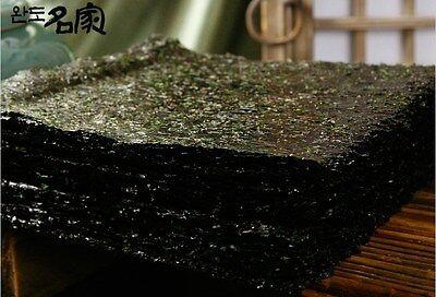 100sheets Korean Parae Seaweed Dried Laver Sushi Kimbap Clean Sea Wando Island