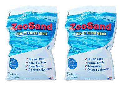 ZeoSand Alternative Swimmning Pool Sand ZeoLite Filter Media - 50 lbs