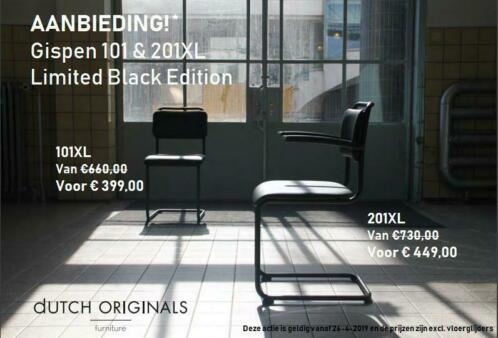 Aanbieding GISPEN 101 & 201 XL Limited Black Edition On Line