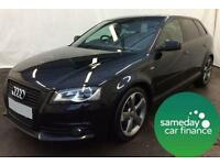 £208.88 PER MONTH BLACK 2012 AUDI A3 SPORTSBACK 2.0 BLACK EDITION START/STOP