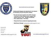 Sedlescombe Rangers FC U15's Blue looking for new players
