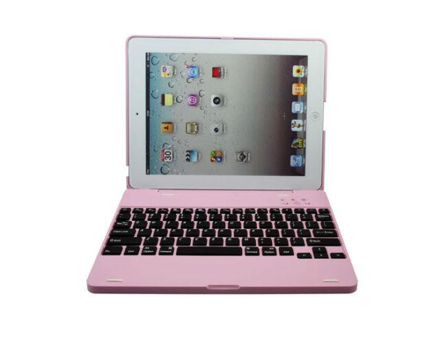 New Wireless Bluetooth iPad 3 iPad 4 Keyboard Case Rechargeable for iPad3 4 Pink